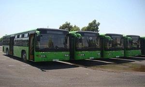 رصد 800 مليون ليرة لشراء  مائة باص نقل داخلي في دمشق