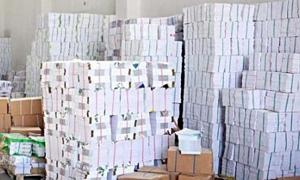 مصادرة أكثر من 30 ألف كتاباً مدرسياً بقيمة 20 مليون ليرة منتشراً على أرصفة حلب