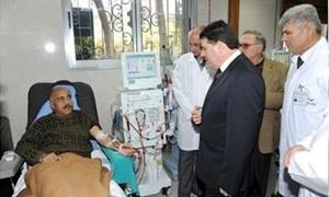 مشفى الكلية الجراحي بدمشق  يتسلم 5 أجهزة غسيل كلية جديدة