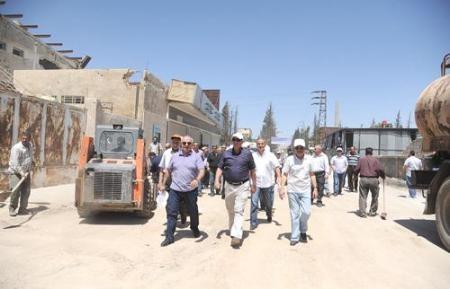 جولة تفقدية في المنطقة الصناعية في حوش بلاس..رئيس اتحاد المصدرين: 500 منشأة تصديرية تدخل الإنتاج قريباً