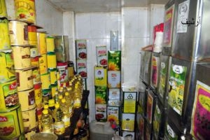 في ريف دمشق..ضبط مستودع يبيع مواد غذائية منتهية الصلاحية !