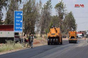 أوتستراد حمص حماة في الخدمة خلال أسابيع قليلة