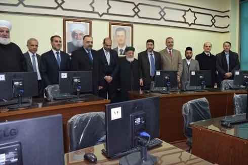 بنك الشام يفتتح قاعة المعلوماتية في مجمع الشيخ احمد كفتارو