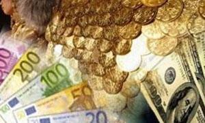 الذهب يتراجع 50 ليرة واليورو يستمر بالارتفاع