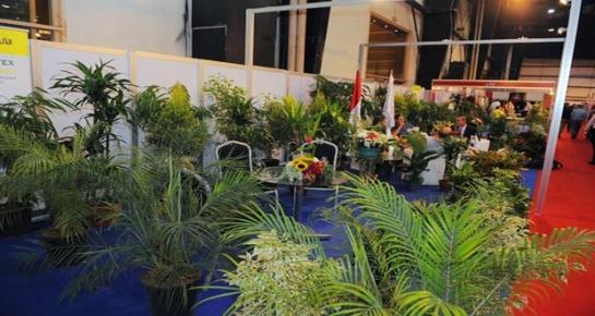 نجاح كبير لجناح المشاتل والازهار بمعرض سيرياموكس والاتفاق على عقود تصدير لدول الخليج