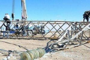 بسبب العاصفة... انهيار 48 برج توتر عالي و 148 عمود خشبي كهربائي في سورية