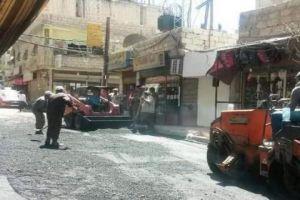 محافظة دمشق: حملة التزفيت بدأت في المزة 86 وستشمل باقي مناطق دمشق