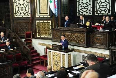 الحلقي أمام مجلس الشعب: الاقتصاد السوري بدأ بالتعافي