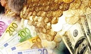 الذهب ينخفض مرة جديدة مسجلاً 3625 ليرة واليورو يتراجع