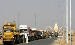 الشاحنات القادمة من الأردن إلى سورية تراجعت 30%