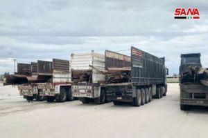 الجمارك تصادر كمية كبيرة من الحديد الصناعي المهرب