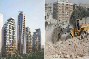 ناطحات سحاب في دمشق تطل على انقاض الحرب.. و الشقة بـ 400 ألف دولار!