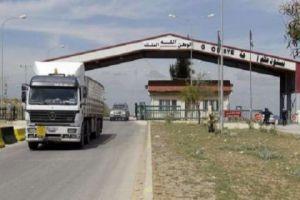 لأول مرة.. شاحنات إماراتية تعبر سورية عبر نصيب الى لبنان