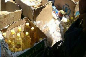 ضبط 15 طناً من مواد الإغاثة الغذائية يتاجر بها في دمشق