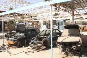 الاقتصاد تحدد إجراءات معالجة وضع السيارات والبضائع المتضررة في المنطقة الحرة بعدرا