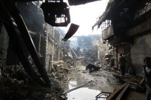 عمليات الترميم بدأت..تضرر أكثر من 100 محل في سوق العصرونية بدمشق