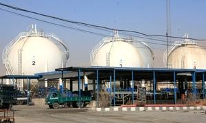 معمل غاز عدرا يبدأ الانتاج بعد توقف لمدة اسبوع وتوريد 35 صهريج لنقل الغاز
