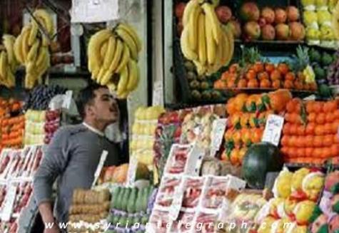 تقرير:انفلات واضح في أسواق دمشق وريفها.. الخضار والفواكه تسجل ارقام قياسية والموز إلى 275 ليرة