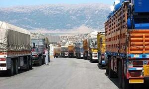 وزارة الاقتصاد تستثني شاحنات نقل المواد الاساسية من شرط الحمولات الزائدة