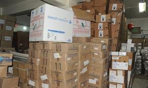 منها فيتامينات للاطفال وأجهزة طبية.. الصحة ترسل 20 طناً من الأدوية إلى حلب