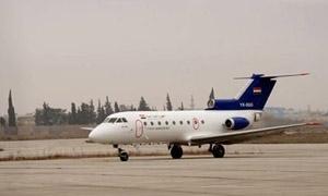 هبوط أول طائرة مدنية في مطار حلب الدولي بعد عام من توقفه
