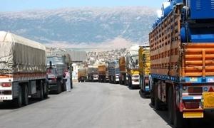 بـ 1740 ..انخفاض كميات البضائع المنقولة لخارج سورية من 170 ألف طن إلى 70 ألفاً