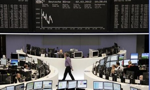 الأسهم الأوروبية ترتفع صوب اعلى مستوى لها في عامين