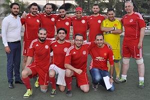 فريق بنك الشام يحصد المركز الثالث في بطولة الشركات السورية بكرة القدم لعام 2017
