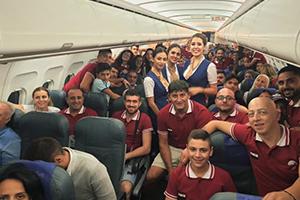 أجنحة الشام للطيران الناقل الرسمي لوفد السوريين الأرمن المشارك في أولمبياد عموم الأرمن في جمهورية أرمينيا