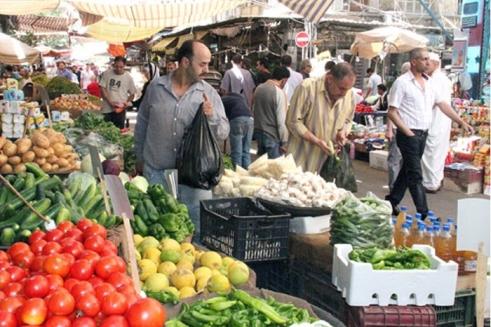 أسعار بعض الخضار و الفواكه في مدينة دمشق اليوم الثلاثاء 2-6-2015
