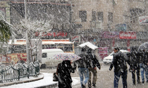 المنخفض القطبي الثلجي مستمر… وتوقعات بمنخفض جديد قادم إلى سوريا
