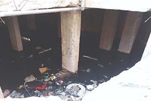 مياه الصرف الصحي تصدع أبنية في دمشق