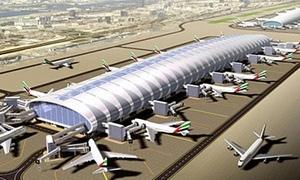 مطار دبي يحتل المرتبة الثالثة على قائمة أكبر مطارات العالم للعام 2012