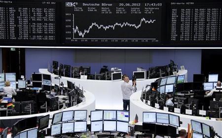 الأسهم الأوروبية تلامس أعلى مستوى لها في 7 سنوات