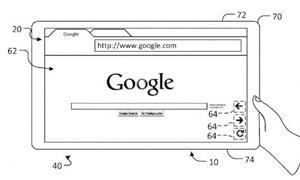 جوجل تسجل براءة اختراع لاستخدام الحواسب اللوحية بيد واحدة