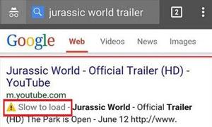 جوجل تظهر تنبيه بالمواقع والصفحات البطيئة في نتائج البحث على الأجهزة الذكية