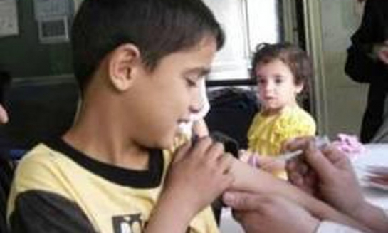 اليوم بدء حملة التلقيح الوطنية لمرضي شلل الأطفال والحصبة