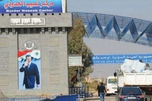 معبر نصيب الحدودي مع الأردن في الخدمة بعد توقف لأسبوع