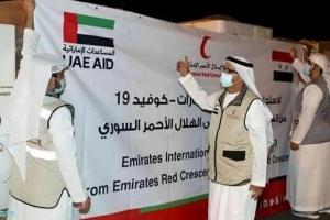 الإمارات: طائرة مساعدات ثانية محملة بلقاحات كورونا تصل إلى دمشق