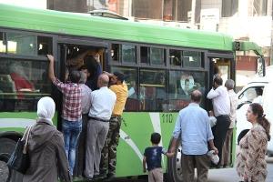 دمشق: تشغيل 30 باص نقل داخلي و65 خلال أيام للتخفيف من أزمة النقل
