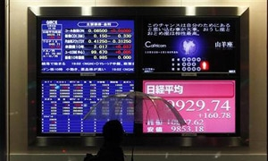 الأسهم اليابانية تسجل أعلى إنخفاض لها في يوم واحد منذ شهرين