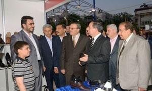 افتتاح معرض حرفيي الأحذية والمنتجات الجلدية في حلب