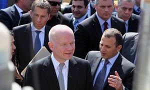 وزير الطاقة اللبناني يطلق أول عملية لمسح في النفط بحضور وزير خارجية بريطانيا