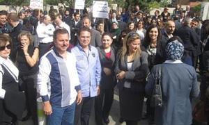 اعتصام لموظفي المصارف في لبنان