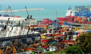 صادرات لبنان ترتفع 13.3% خلال النصف الأول لعام 2013.. وسورية بصدراة الدول بـ43 مليون دولار