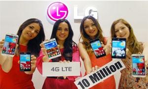إل جي إلكترونيكس  تتخطى حاجز10 ملايين جهاز من الهواتف الذكية التي تدعم  تقنية الجيل الرابع LTE