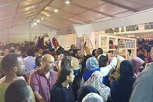 إفتتاح معرض صنع فى سورية في بنغازي..خزعل: معرض دائم للمنتجات السورية في ليبيا