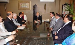 وزير التجارة الخارجية يجتمع مع أعضاء غرفة صناعة دمشق