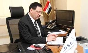حمدان: ارتفاع عدد الأسهم المتداولة في بورصة دمشق إلى 800 مليون سهم .. ومستثمرون جدد دخلوا السوق