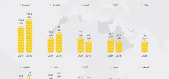 انخفاض في السعودية وارتفاع لمصر..  تباين في احتياطي النقد بين الدول العربية لعام 2015